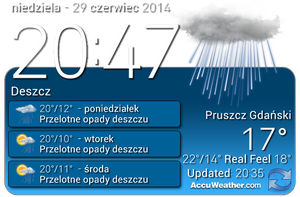 Lg Clock With Weather (UPDATED!) by Slavoo123