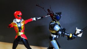 Kamen Rider Dark Decade vs Captain Marvelous 08 by Digger318
