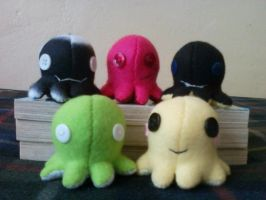 Octopis (Or Octopods) Plushies by BreathlessX