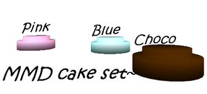 MMD Cake Set by IcyBreeze8