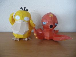 psyduck and octillery by dodoman75