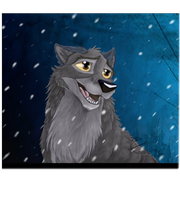 Balto in the Snow by EmberWolfsArt