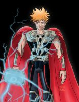 The Anime Avengers-Ichigo as Thor by mosobot64
