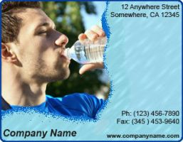 Ad Template - Bottled Water by drkdsgn