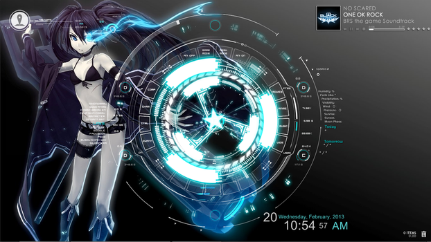 BRS rainmeter w/ SAO menu interface 02 by EvannGeo