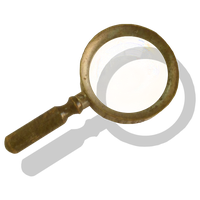 Steampunk Victorian Magnifying-glass Icon Mk4 by pendragon1966