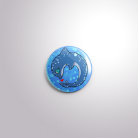 Dolphin pin back button by FanaticalFactory
