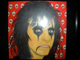 Alice Cooper Oil Pastel by DemonBa55Player