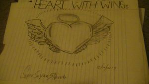 Heart With Wings Drawing! by SuperSayian5Naruto