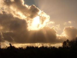 Sun rays and cloud STOCK by needanewname