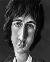 caricature young pete towshend - the who by jupa1128