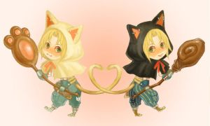chibi kitty mages by f-wd