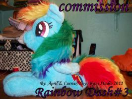 Rainbow Dash custom plush number 3 by Soyo-Kaze-Studio