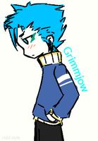 grimmjow chibi style! by Geek-Antic