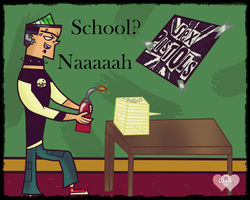 ''_Duncan_Hate School_by_CourtG'' by CourtG