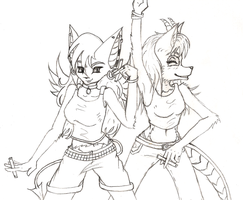 Spontaneous Rave Sketch by AstralKiwi