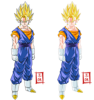 Vegetto Pose Versions by SnaKou