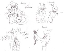 Nemesis' interaction with other characters part 4 by darkangel6021