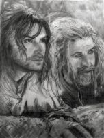 WIP Day 4: Kili and Fili Lost the Ponies by SHParsons