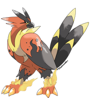 Fakemon Falcoflame by Phatmon