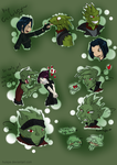 Gecko boys and stalking girls by Huispe