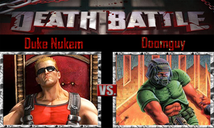 Duke Nukem vs Doomguy by SonicPal