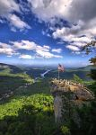 Chimney Rock and Lake Lure by E-Davila-Photography