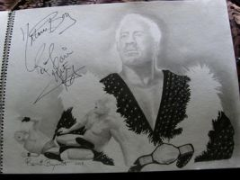 Ric Flair Autographed Drawing by remizart