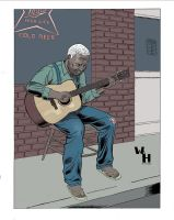 The unknown  bluesman by introvertedart