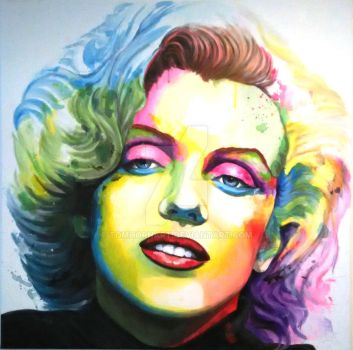 Marilyn  Pop Art by TomHornArt