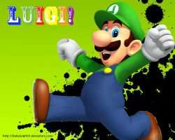 New Luigi Wallpaper by babyluigi957