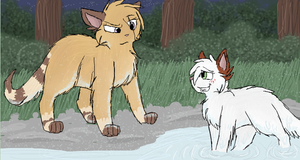 Heatherstorm and Applepaw by CascadingSerenity