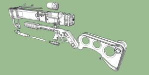 Laser Rifle Exploded by SikKlownInk