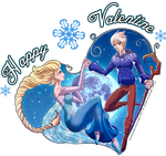 Happy Frozen Valentine's Day by SoyUnGnomo