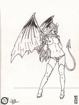 ...Devil on the Other INKS by thavixen
