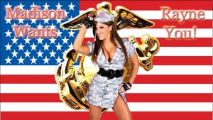 Sexy Soldier Madison Rayne wp by SWFan1977