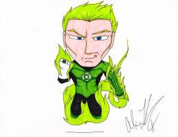Green Lantern Human Torch by toonartist