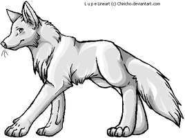 Lupe Wolf Makeable Shaded by TeaDino