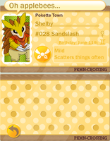 PKMN Crossing Application: Shelby by FrostFlurry92