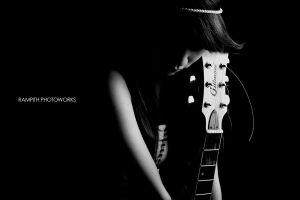 with her guitar by rampith