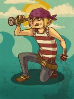 stringbean the pirate by socke-scheusal
