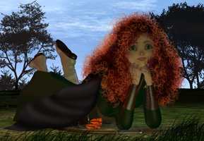 Brave - Merida relaxing by bdy