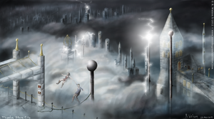 Thunder Storm City by merrak