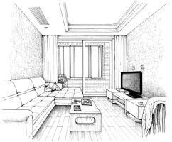 Interior Drawing by JYF1982