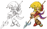 Legend of Mana : girl by Akilab