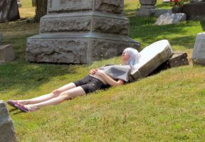 Not his butler, lying in the sun by rawien