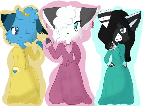 + Schuyler sisters + by Patchedeye