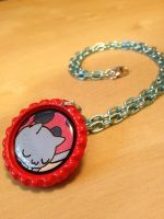 Catbug Bravest Warriors Necklace by Monostache