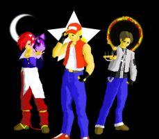 Kyo, Iori and Terry by krakens