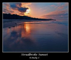 Stradbroke Sunset by 2Stupid2Duck